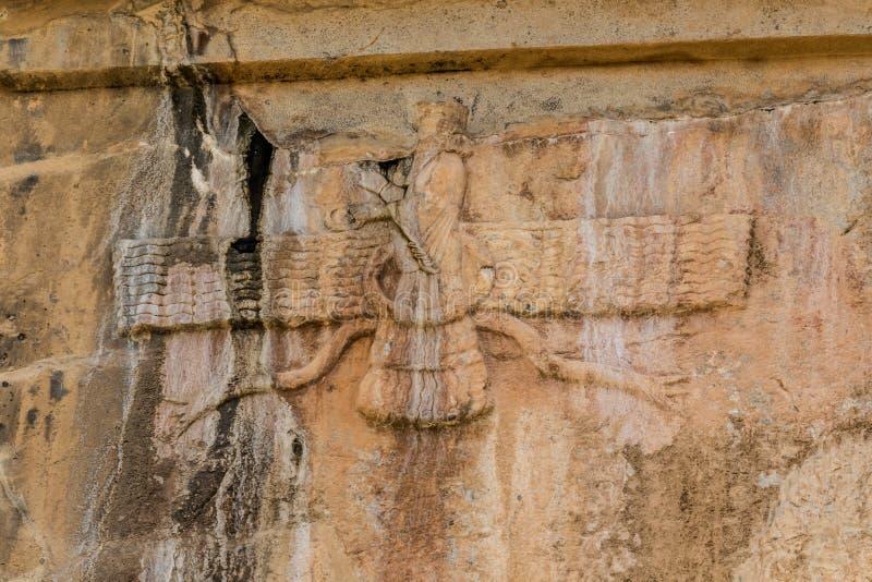 Faravahar Persepolis kunglig persongravvalv fotografering för bildbyråer