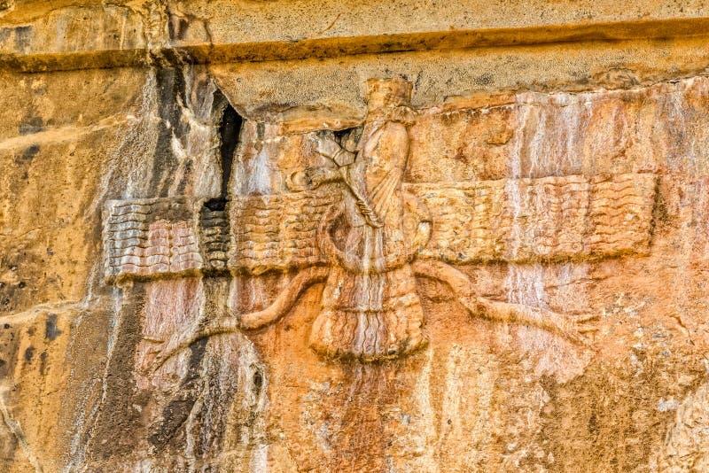 Faravahar Persepolis symbol royaltyfria bilder