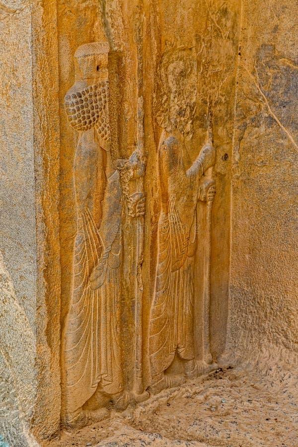 Faravahar Persepolis symbol royaltyfria foton