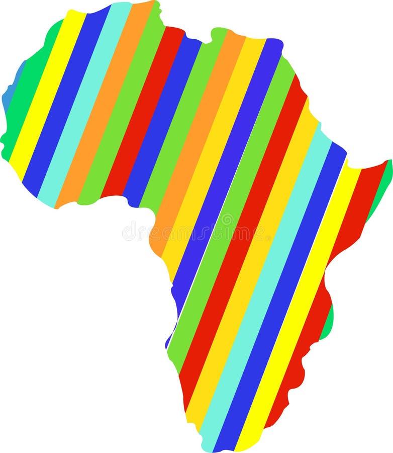 Farb-Afrika-Karte Abstraktes Schattenbild von Afrika vektor abbildung