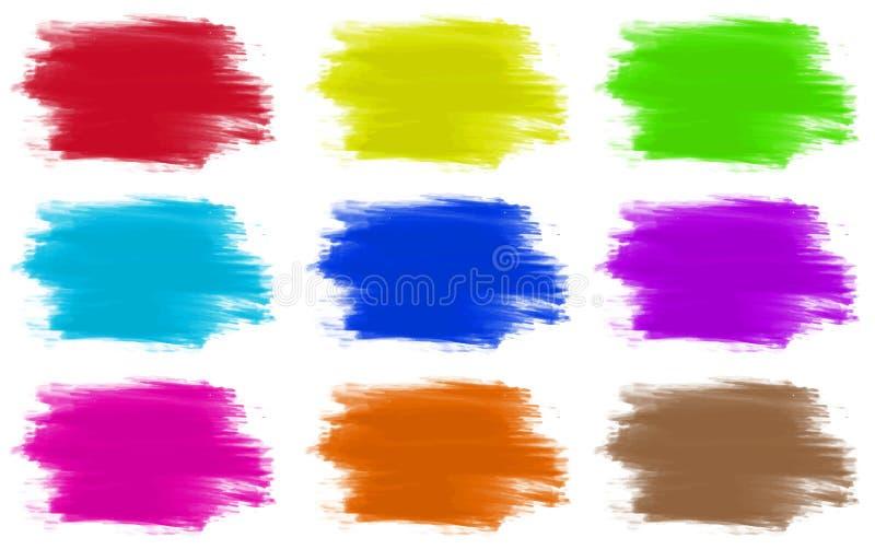 Farb colours ustawiający 9 ilustracji