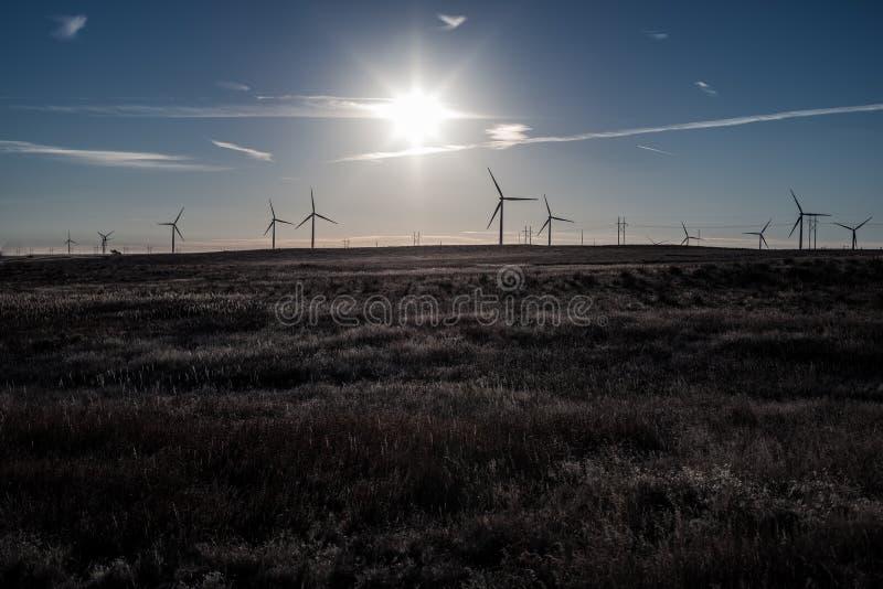 Farb kopalnie blisko Calhan, Kolorado zdjęcia stock
