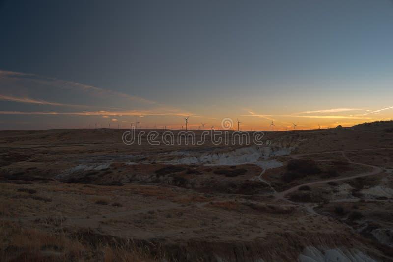 Farb kopalnie blisko Calhan, Kolorado obraz royalty free