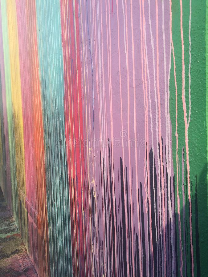 Farb malowidła ścienne zdjęcia royalty free
