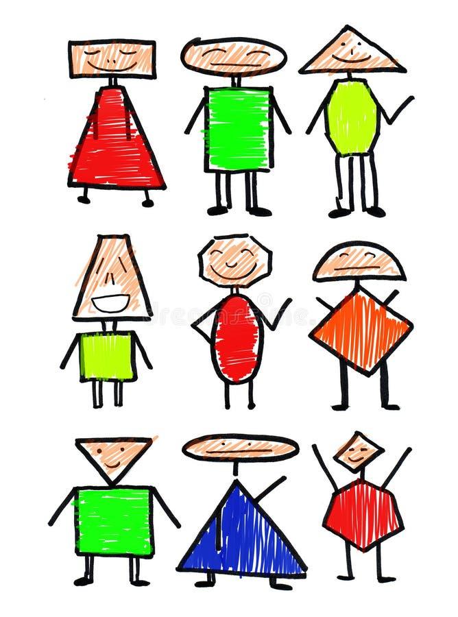 farb osob ludzie royalty ilustracja