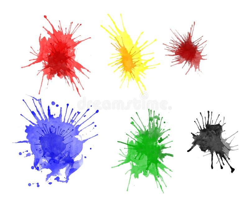 farb splats royalty ilustracja