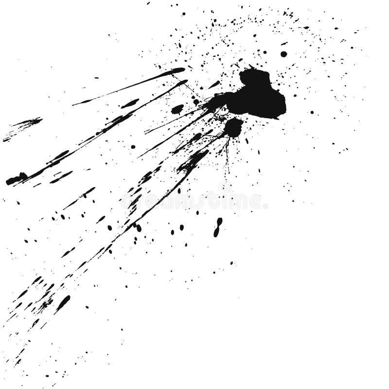 Farb splats blotch odizolowywający na białym tle ilustracja wektor