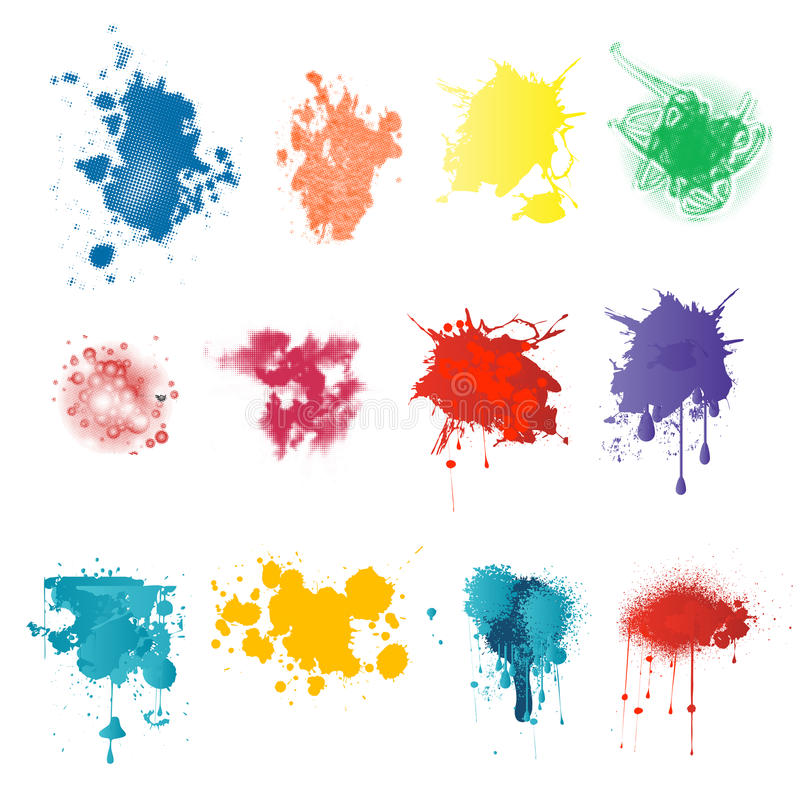 Farb splatters ilustracja wektor