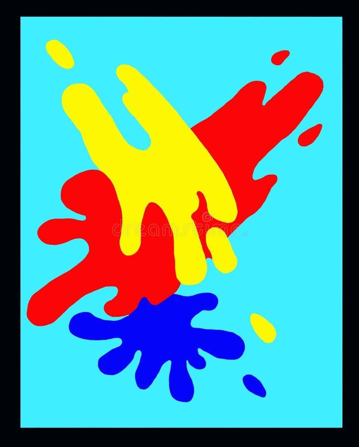Farb Splotches w Początkowych kolorów tle ilustracja wektor