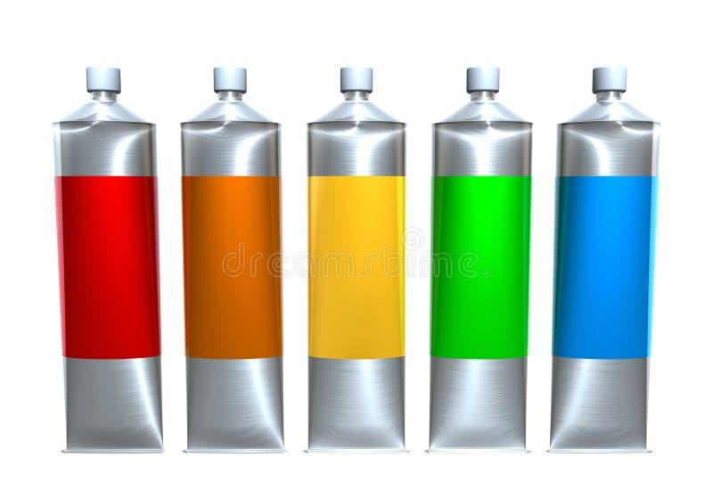 farb tubki ilustracji