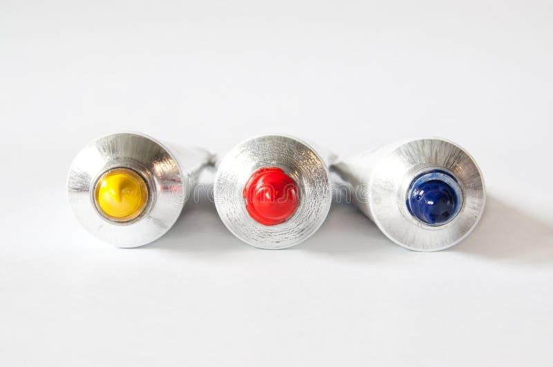 Farb tubki początkowi kolory fotografia royalty free