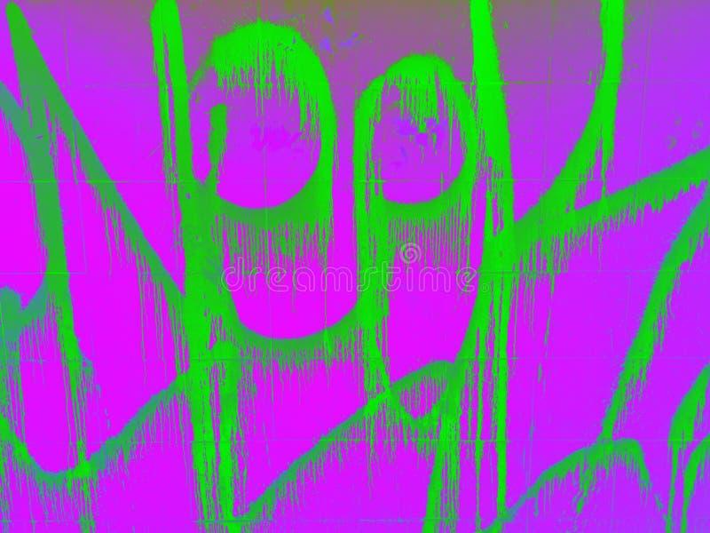 Farba abstrakcyjna w jasnych kolorach kwasowych Grafika pikseli obrazy stock