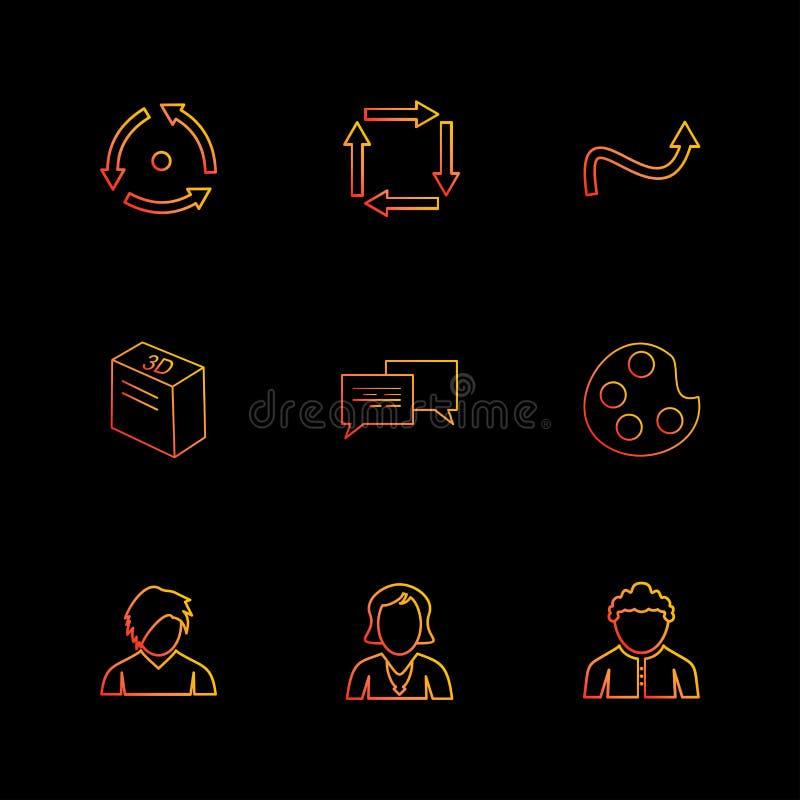 farba, avatar, wiadomość, strzała, kierunki, avatar, downlo ilustracji