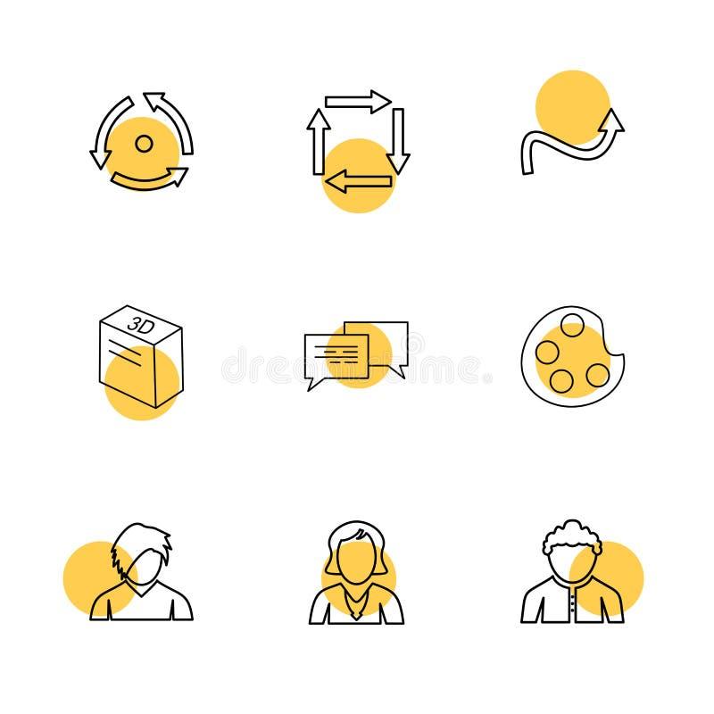 farba, avatar, wiadomość, strzała, kierunki, avatar, downlo royalty ilustracja