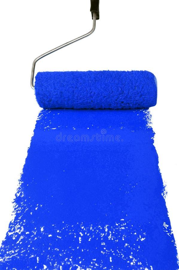 farba błękitny rolownik fotografia stock