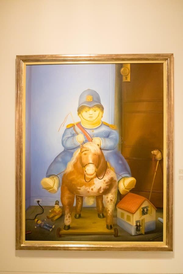 Farba Botero dzwonił Pedro Medellin Kolumbia zdjęcia royalty free