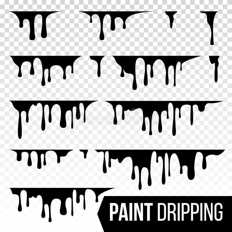Farba Kapiący Ciekły wektor Abstrakcjonistyczni Aktualni atramenty Krwionośny splatter tło button ręce s push odizolowana początk ilustracji