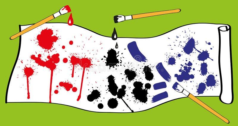 Farba kleksy ilustracji