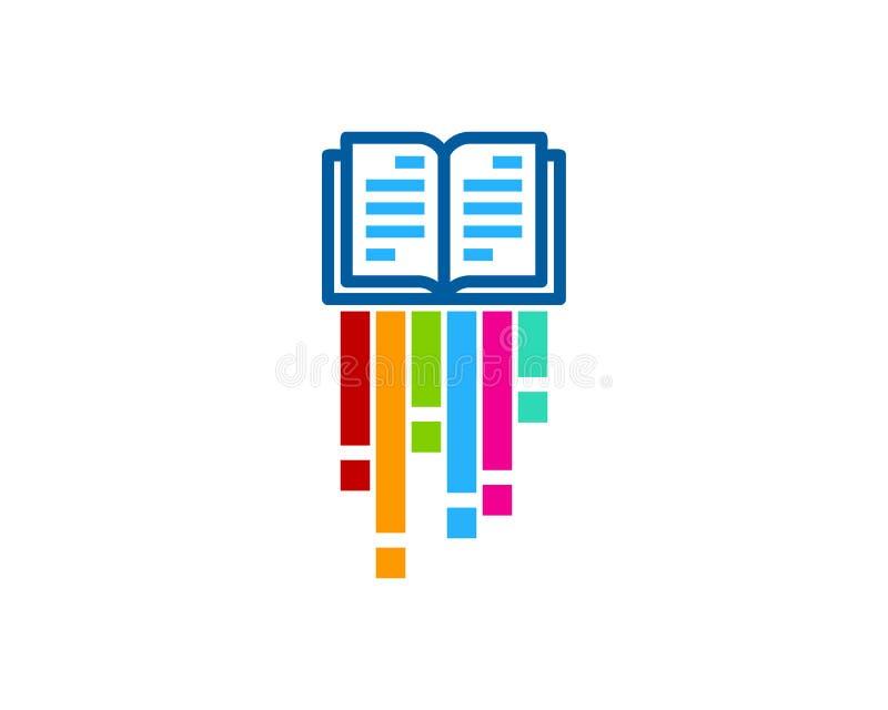 Farba loga ikony Książkowy projekt royalty ilustracja
