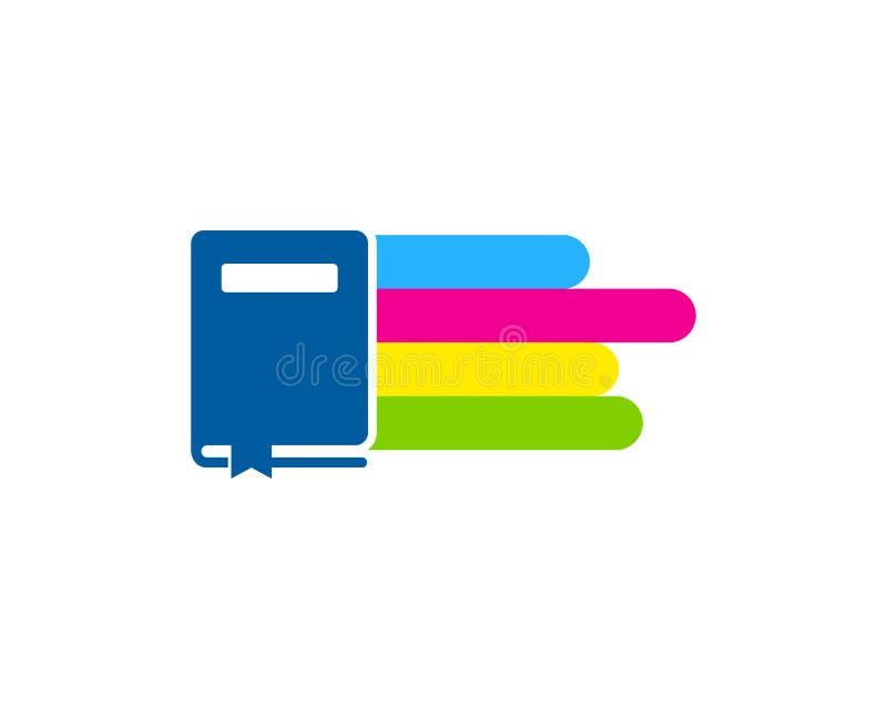 Farba loga ikony Książkowy projekt ilustracja wektor