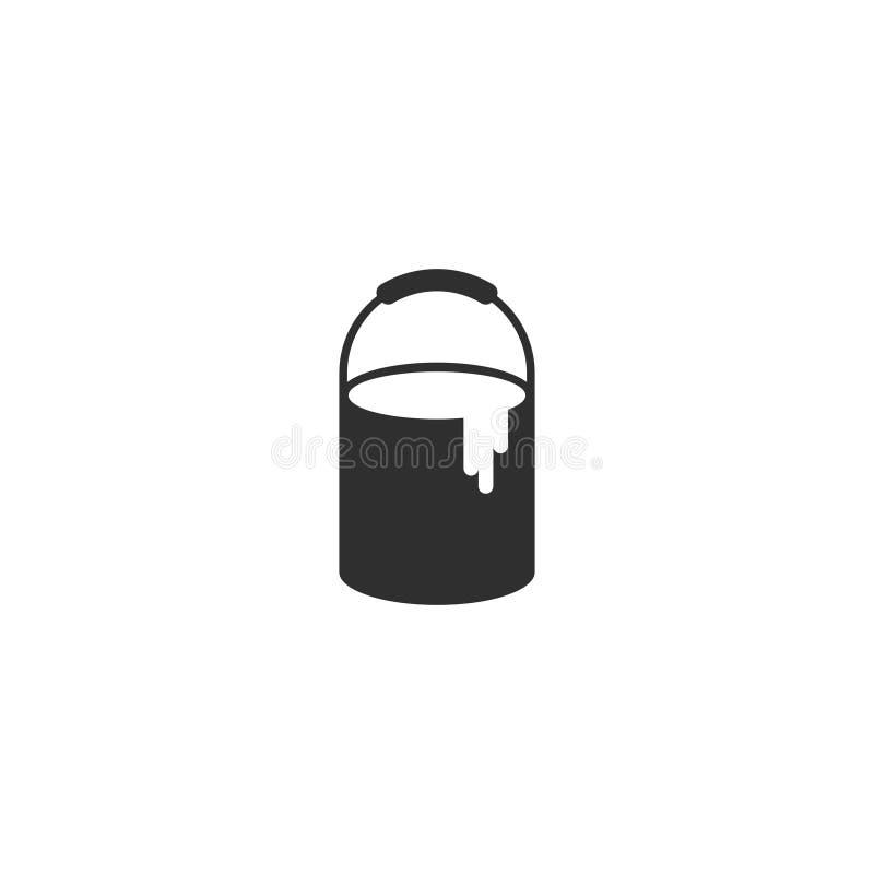 Farba może wykładać ikona wektor odizolowywał 2 royalty ilustracja