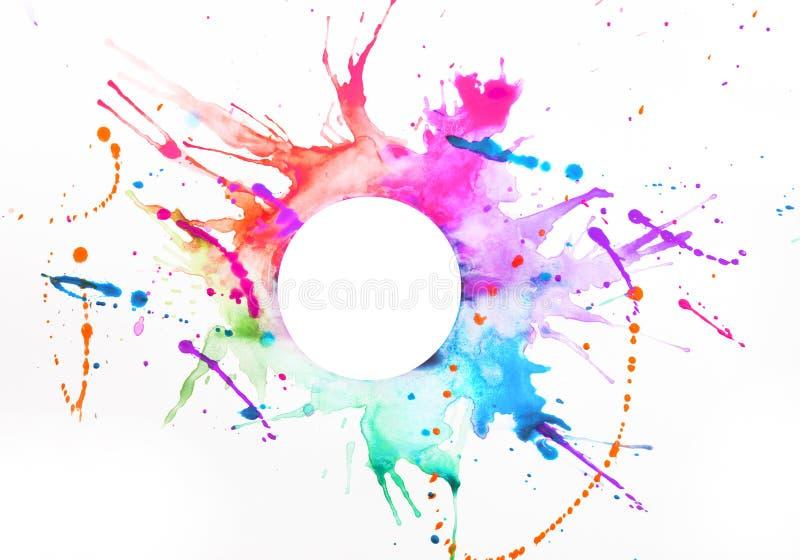 Farba na prześcieradle papier zdjęcie stock