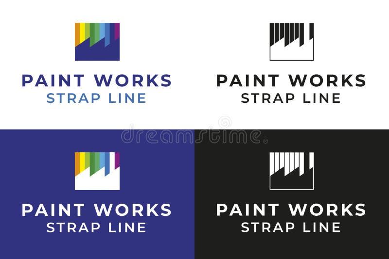 Farba Pracuje logo fotografia stock