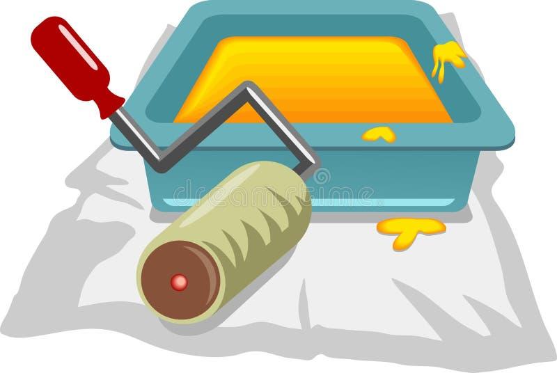 Download Farba rolki ilustracja wektor. Obraz złożonej z rolownik - 48710