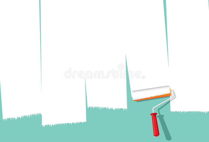 farba rolownik ilustracji