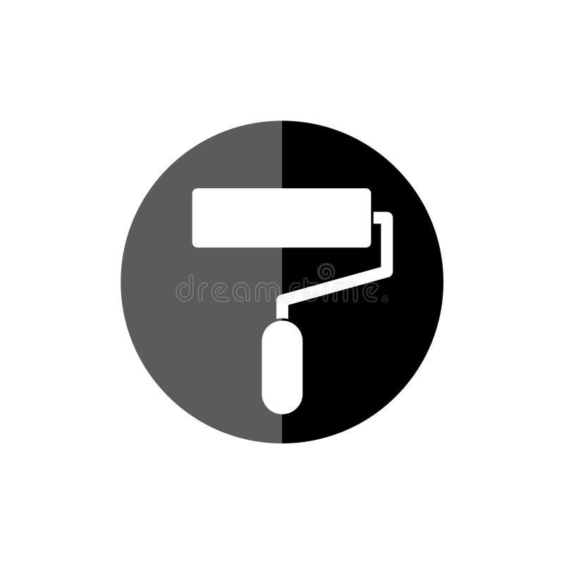 Farba rolownik odizolowywający, prosta ikona obrazy stock