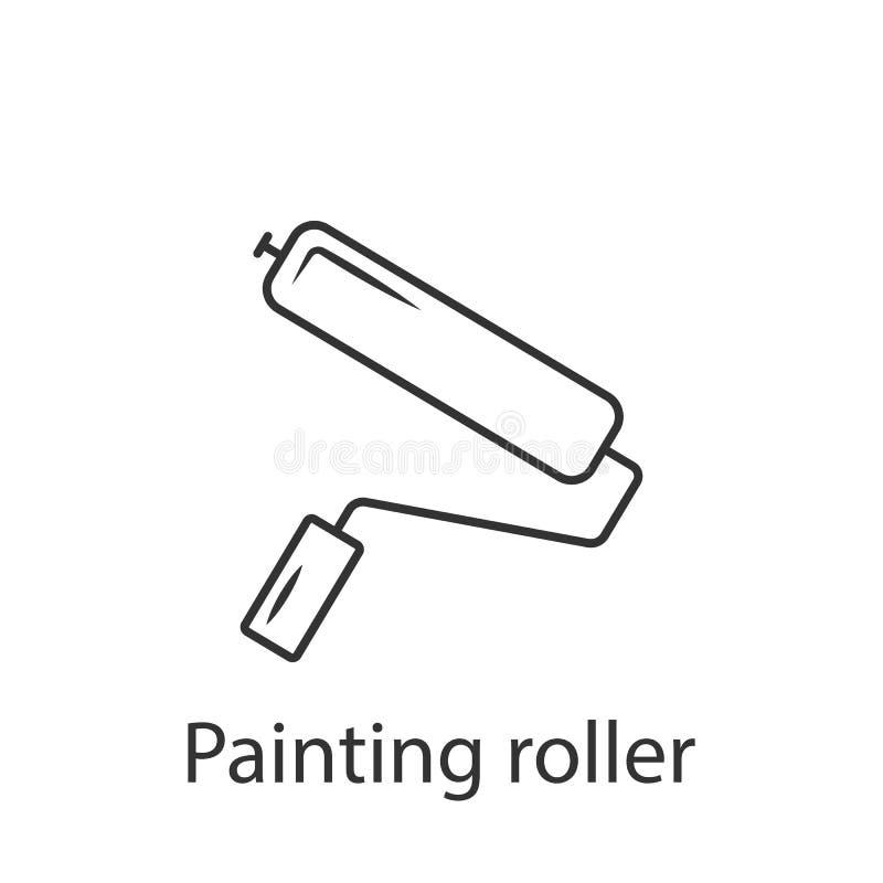Farba rolownika ikony ikona Prosta element ilustracja Farba rolownika ikony symbolu projekt od budowy kolekci setu może używać ilustracji