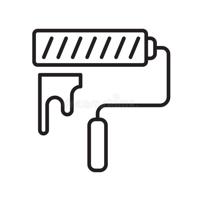 Farba rolownika ikony wektor odizolowywający na białym tle, farba Rol ilustracja wektor