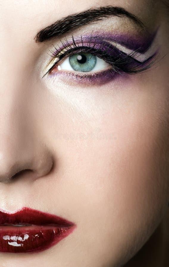 farba twórcze twarzy obrazy stock