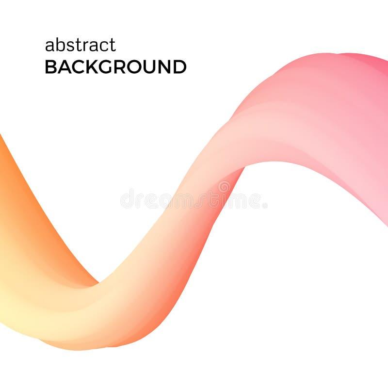 Farbabstrakte Zusammensetzung des orange Aquarells bewegt wellenartig lizenzfreie abbildung