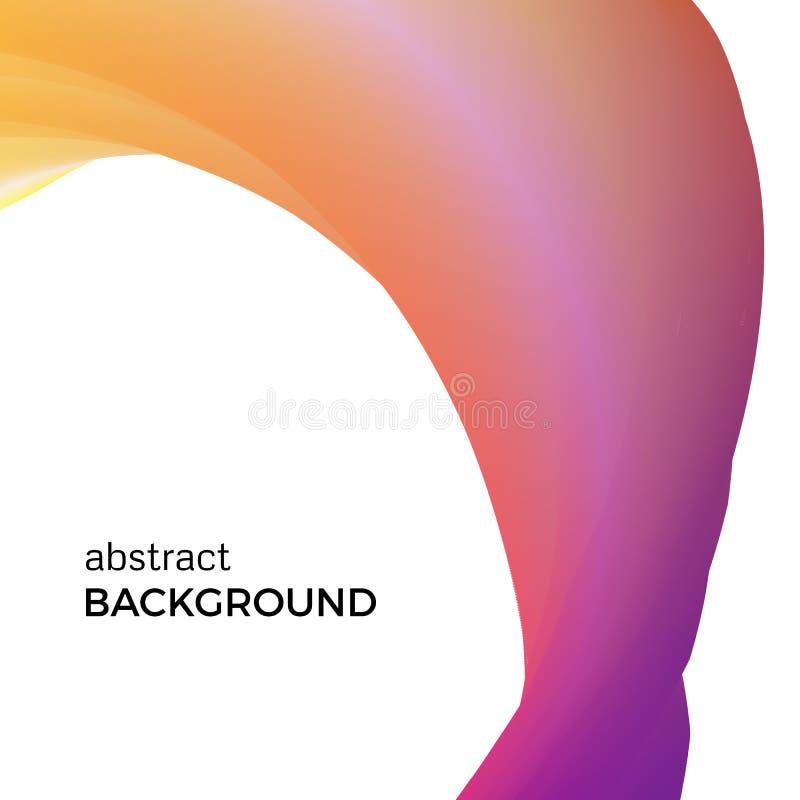 Farbabstrakte Zusammensetzung des orange Aquarells bewegt wellenartig vektor abbildung