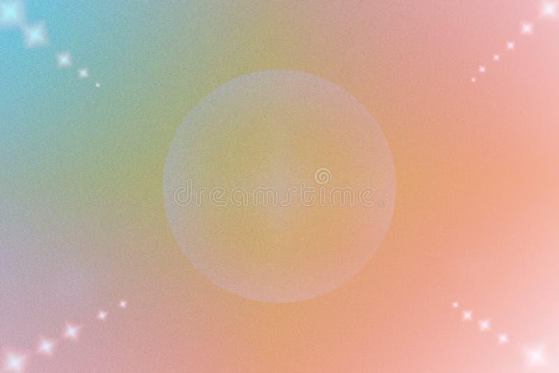 Farbabstrakter Hintergrund mit Kreis und Stern lizenzfreie stockbilder