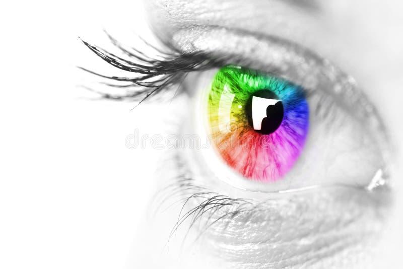 Auge einer schönen Frau lizenzfreies stockfoto