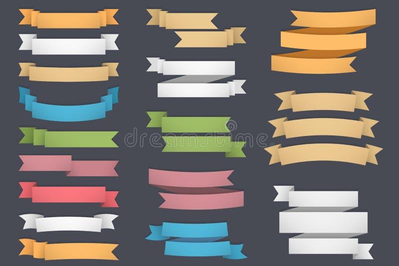 farbbänder lizenzfreie abbildung