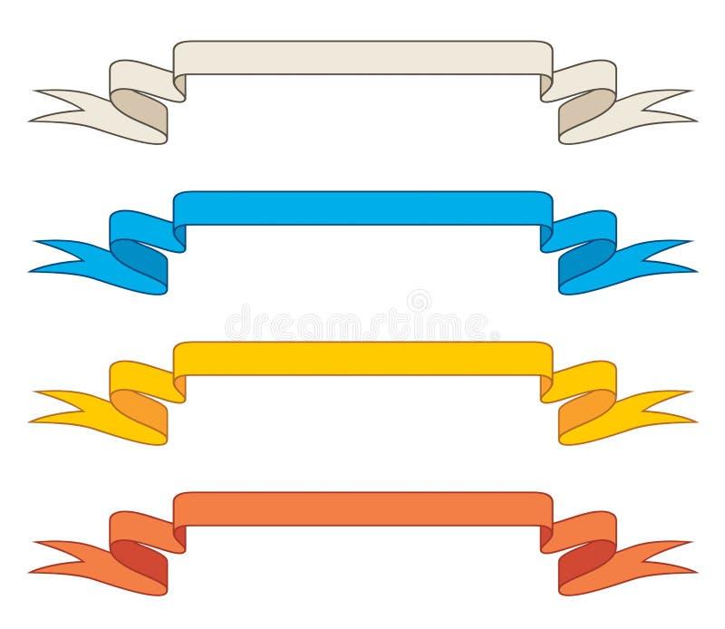 Farbbänder/Fahnen lizenzfreie abbildung