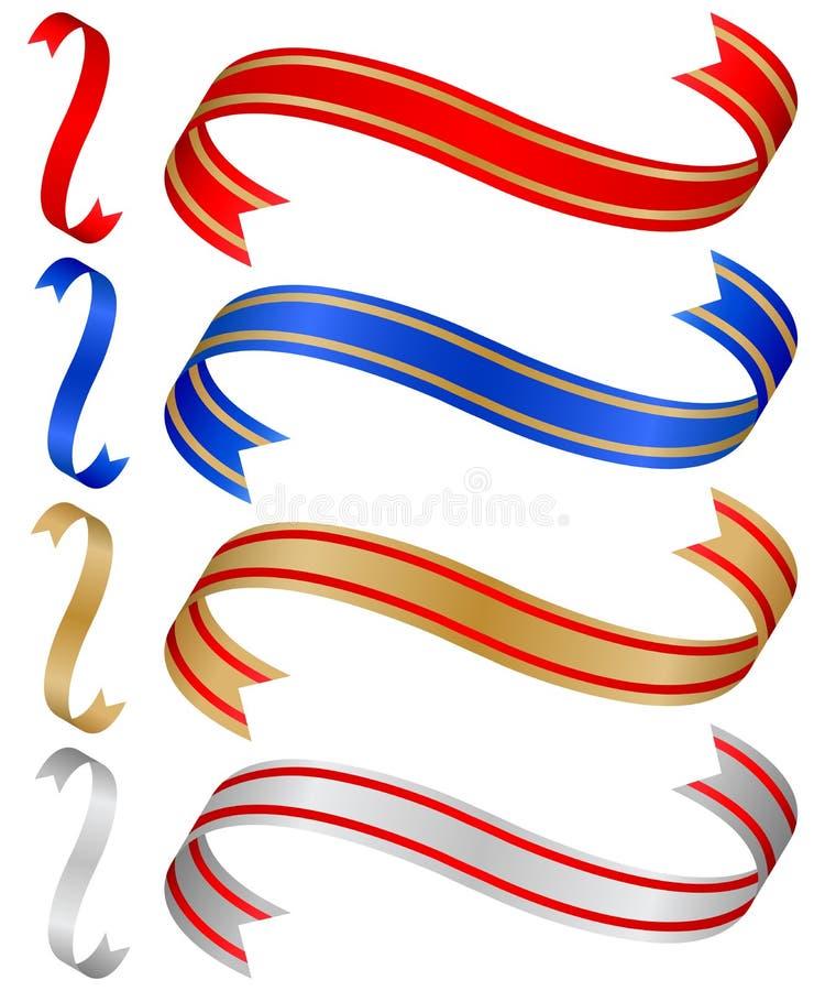 Farbbänder stellten 4 ein vektor abbildung