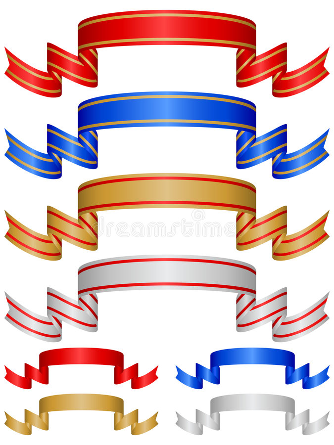 Farbbänder stellten 7 ein vektor abbildung