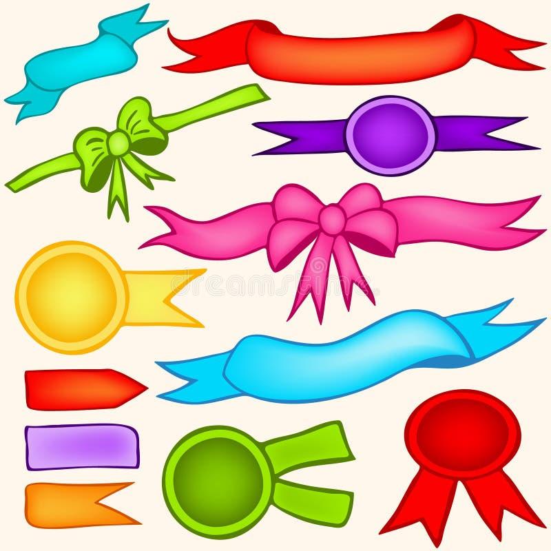 Farbbänder und Fahnen stock abbildung