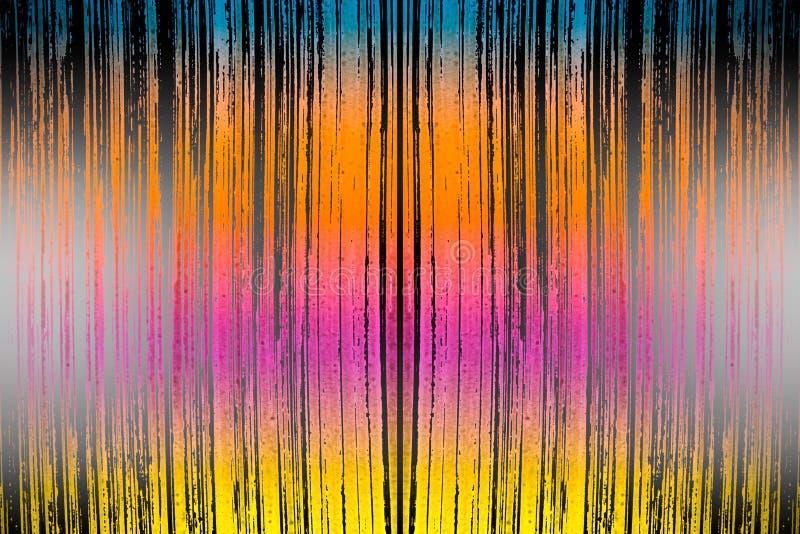 Farbbürste streicht Muster stockbilder