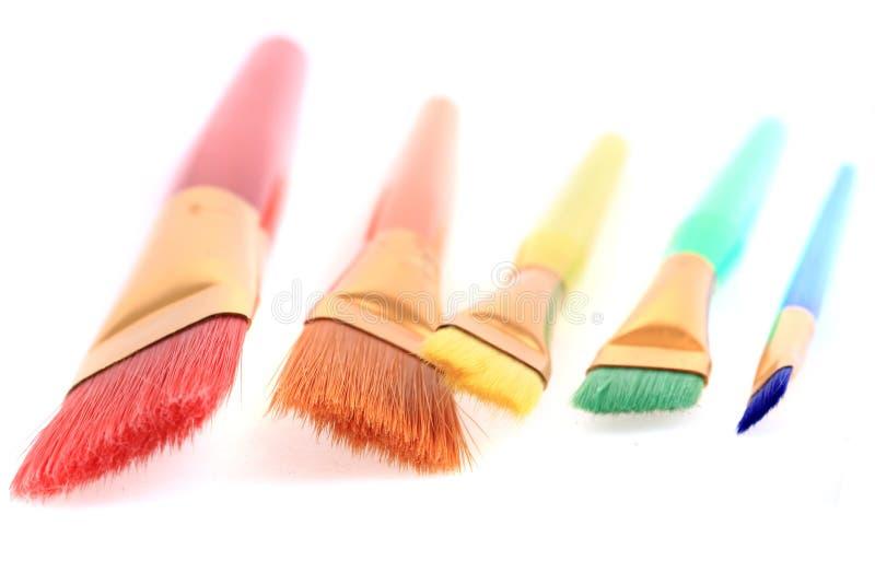 Farbbürsten lizenzfreies stockfoto