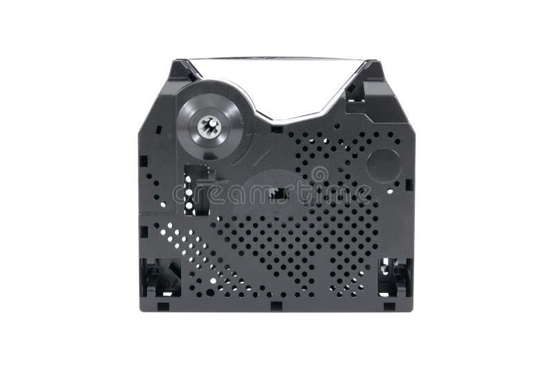 Farbbandeinschub für den Matrixdrucker lokalisiert auf weißem Hintergrund lizenzfreie stockfotografie