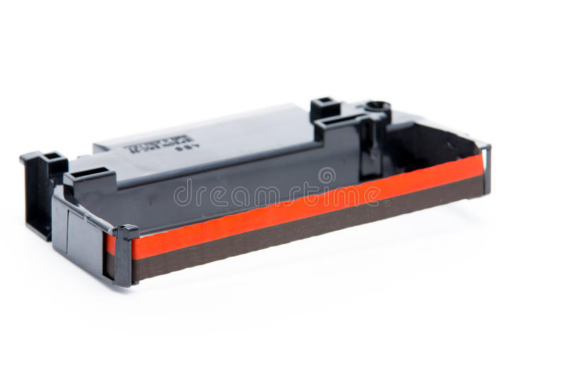 Farbbandeinschub für Matrixdrucker stockfotos