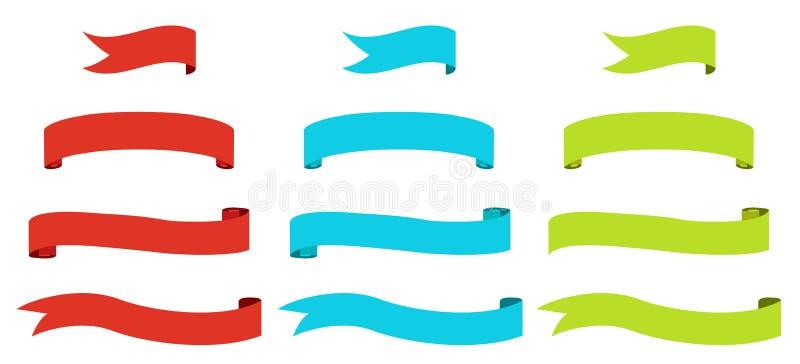 Farbbandmarkierungsfahnen lizenzfreie abbildung