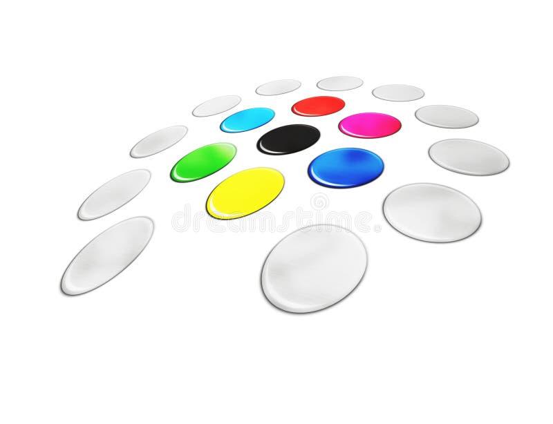 Farbe stock abbildung