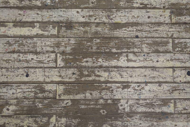 Farbe-abgezogener weißer Bretterboden-Planken-Hintergrund stockfoto