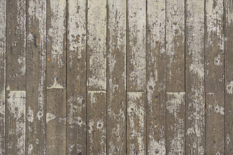 Farbe-abgezogener weißer Bretterboden-Planken-Hintergrund stockfotografie
